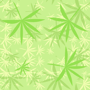 Bamboo Leaves 10: A colourful backdrop, texture, pattern or fill with leaf shapes reminiscent of bamboo or marijuana.