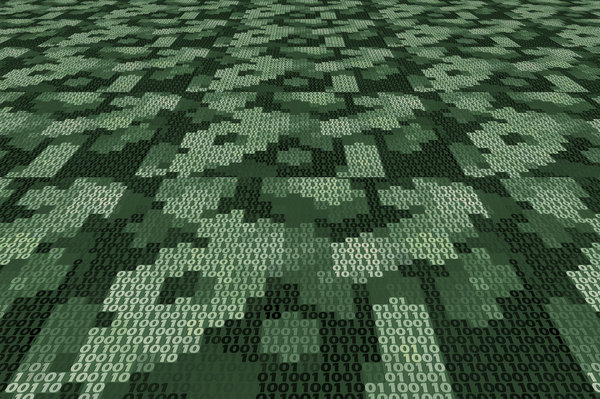 Binary Background 2: A binary texture or background in shades of green.