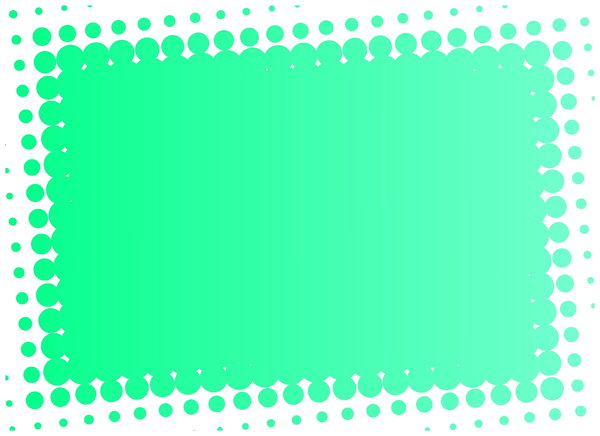 Dot Banner 1: A green banner with a dotted edge.