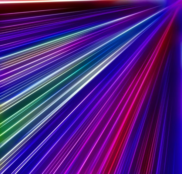 Flare: Multi-coloured flare suitable for backgrounds, fills,textures, or to illustrate states of mind, science fiction, time warps, speed, etc.