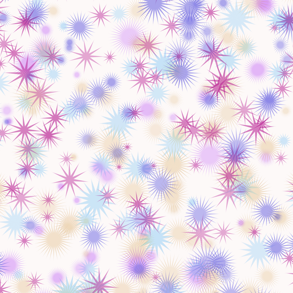 Colourful Star Background 2: A background decorated with fantasy stars in multi-colours. Hi res.