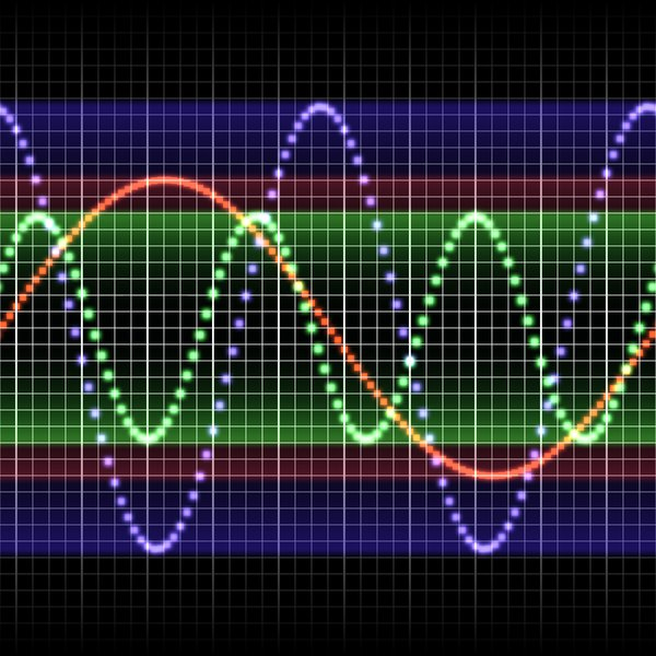 Sound Waves 3: A colourful representation of sound waves.