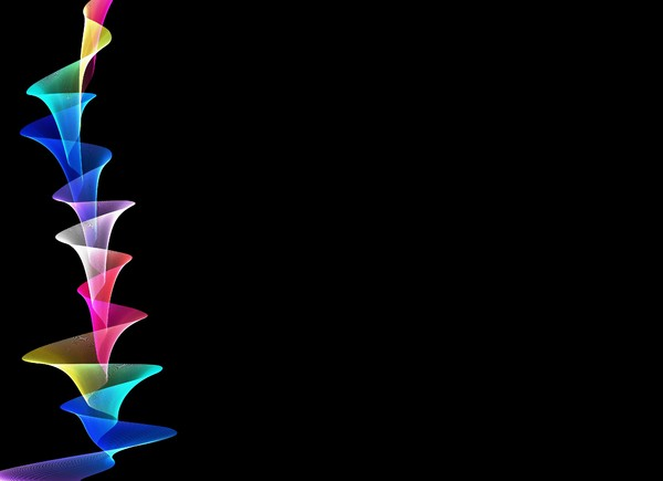 Rainbow Waves 14: Rainbow coloured gossamer waves against a black background. you may prefer:  http://www.rgbstock.com/photo/o2cJRJq/Rainbow+Waves+7  or:   http://www.rgbstock.com/photo/o1WZHXq/Rainbow+Waves+6