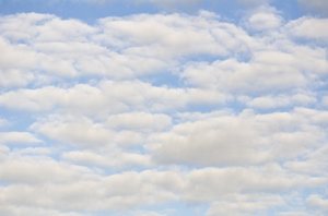 Cloudscape: clouds in blue sky