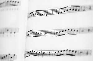 Music scales: music notation scales