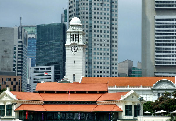 domed architecture11: colonial domed architecture in Singapore - historic clock tower