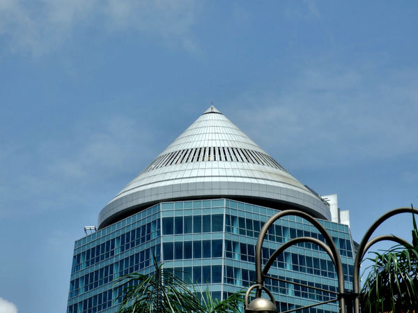 domed architecture15: modern domed/coned architecture in Singapore - CBD commercial centre
