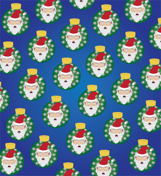 Santa patterns: Santa pattern. Print and wrap presents with it