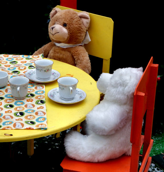 teddy bear's tea for two