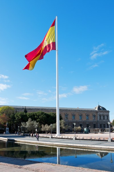 Giant flag of Spain