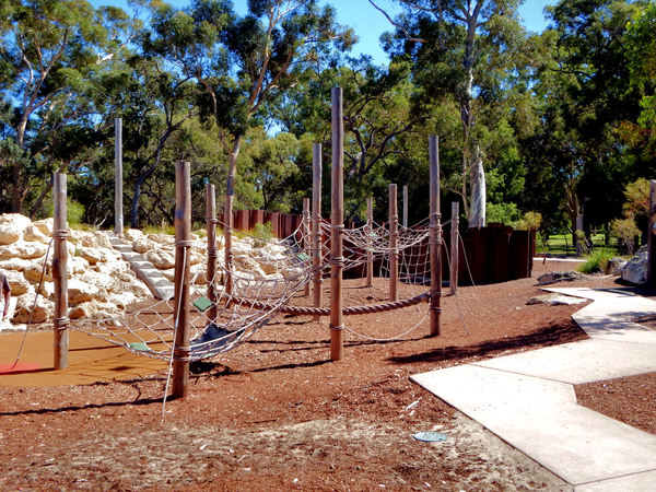 park play area path2: zigzagging park play area footpath