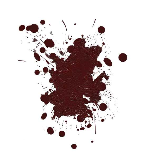 Blood Spatters 3: Spattered old blood stains against a white background. You may like:  http://www.rgbstock.com/photo/mT6xtaK/Blood+Spatters  or:  http://www.rgbstock.com/photo/n2UBI6e/Blood+Spatters+2