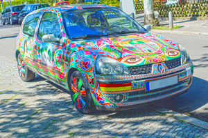 colourful car: colourful car