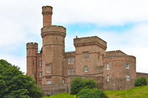 Inverness Castle: Views of Inverness Castle, in the centre of the capital of the Scottish Highlands