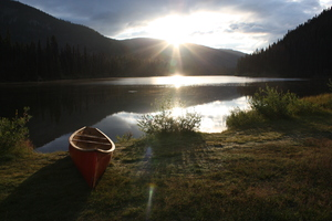 lightning lake: sunrise manning park b c