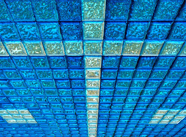 blue glass ceiling1