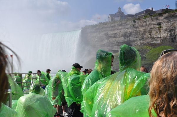 Niagara Falls journey: Whole Niagara Falls journey from start of full view to start of falls to coming out of spray to tourists in green waterproof spray tops. Great journey.