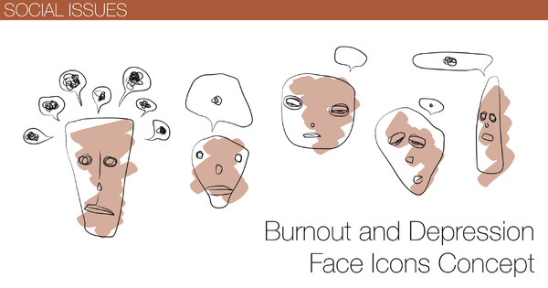 Depression And Burnout Faces