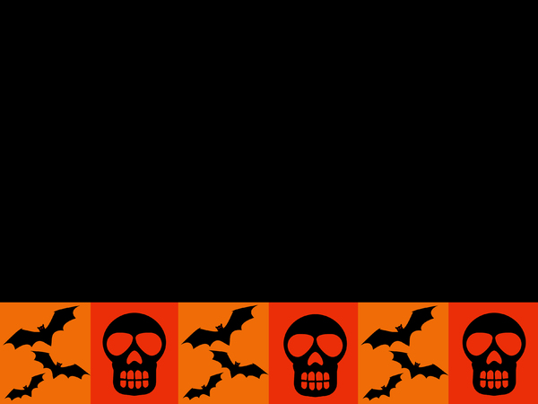 Skulls and Bats Card: A Halloween banner/card.