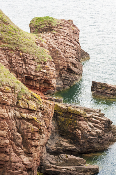 Cliffs: Arbroath, Angus, Scotland