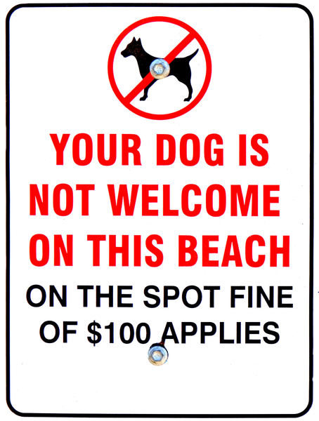 dogs not welcome