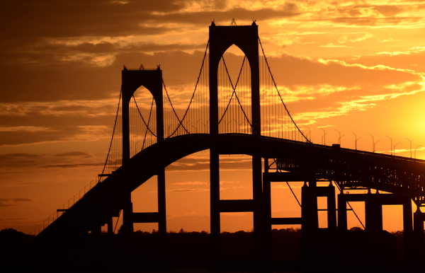 Newport Bridge Sunset