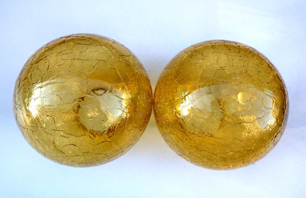 textured glass lampshades3: golden textured ball-shaped glass lampshades