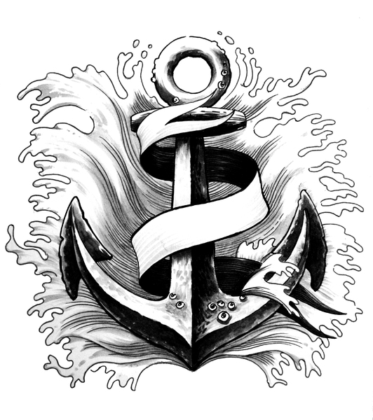 Anchor and banner