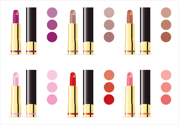 Lipsticks: These lipsticks are for your lips, ladies. Do not use them to write messages on mirrors. Thank you very much! ;) You can download a vector file on my website.