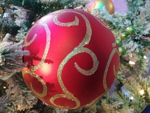 Christmas Ball Ornament: Taken at Cascades Casino in Kamloops BC Canada 2016