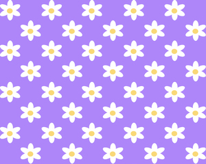Daisy Tile 6: A seamless background tile with a daisy pattern.