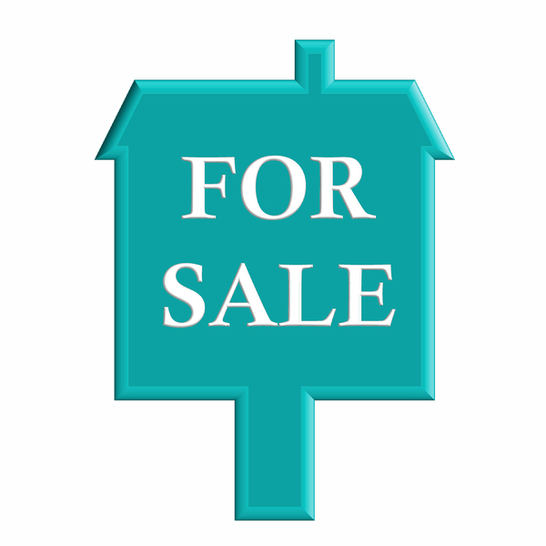 House for Sale: A house for sale sign on a white background.