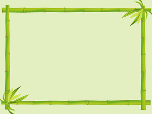 Bamboo Border 3: A bamboo border with lots of copy space.