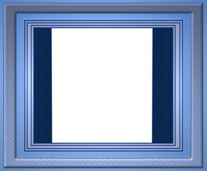 blue frame: blue frame with blue borders