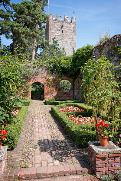 Walled formal garden