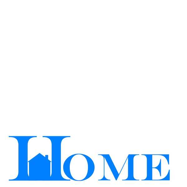Home Banner 2: Pictogram of the word home on a white background. Contact me for use outside the licence.