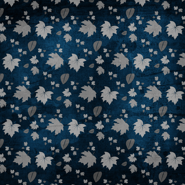 Silver Leaves Navy Texture