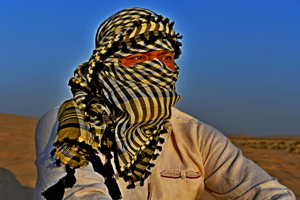 Arabic Indian Man in desert