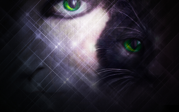 Green eyes: Photoshop effects