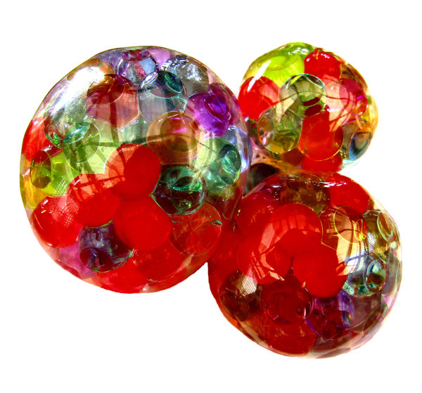 multicolored multi bubbles1: multiple small gel balls within larger gel balls when squeezed