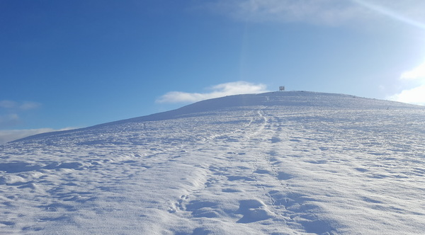 Winter mountain: Views from Mount Blair in the southern Scottish Highlands in winter