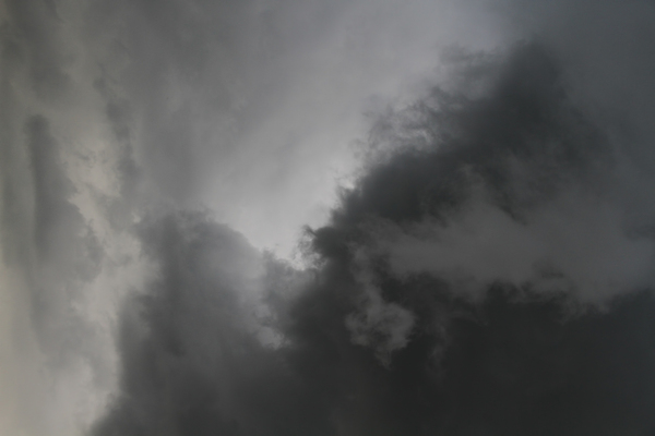 Dangerous clouds: Natural clouds of a thunderstorm