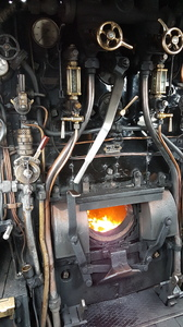 Steam loco seen from footplate