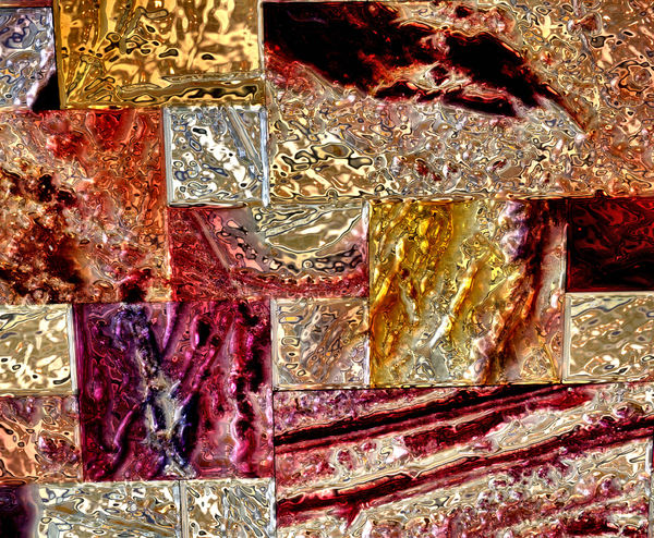 art glass panel feature 1: textured coloured glass background, texture, patterns and perspectives
