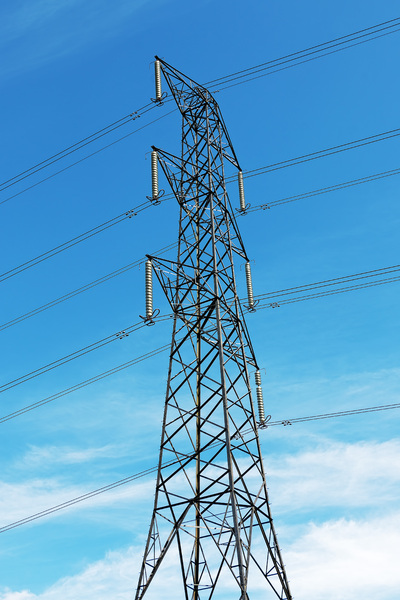 Electricity pylon: An electricity pylon in England.