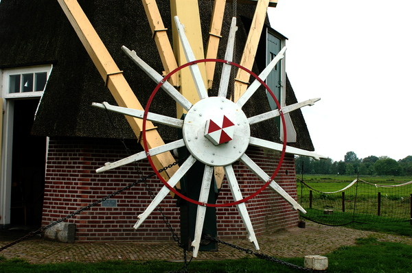 Wheel of a windmill