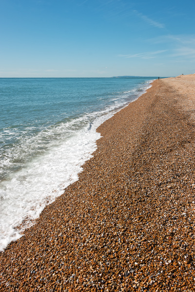 Shingle coastline