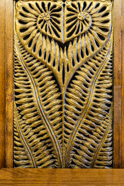 wrought-iron golden fern