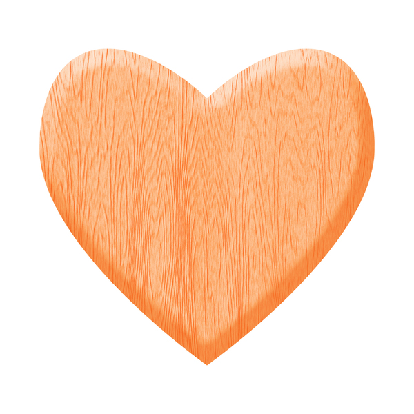 Gold Wooden Heart: A heart of wood.