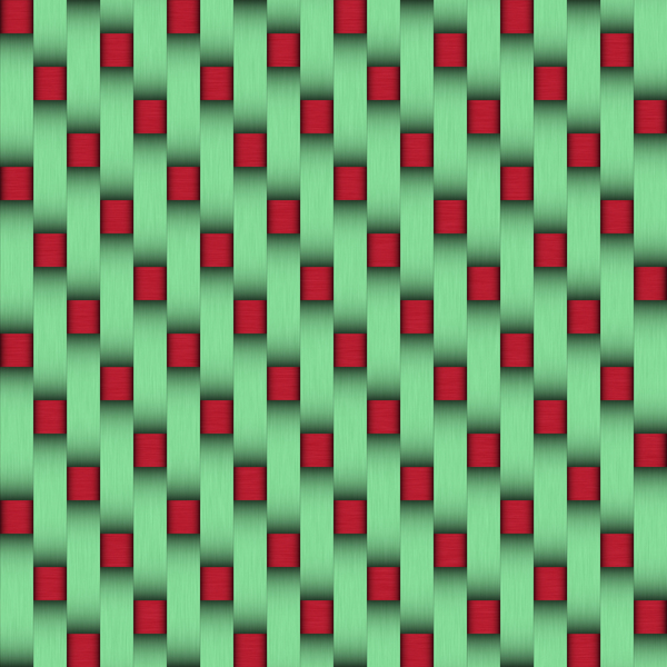 Red and green weave
